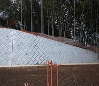 岡緑地擁壁設置工事