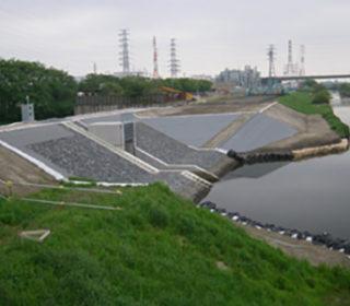 新河岸川樋管工事