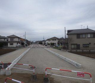 所沢市北中 都市計画道路拡張工事